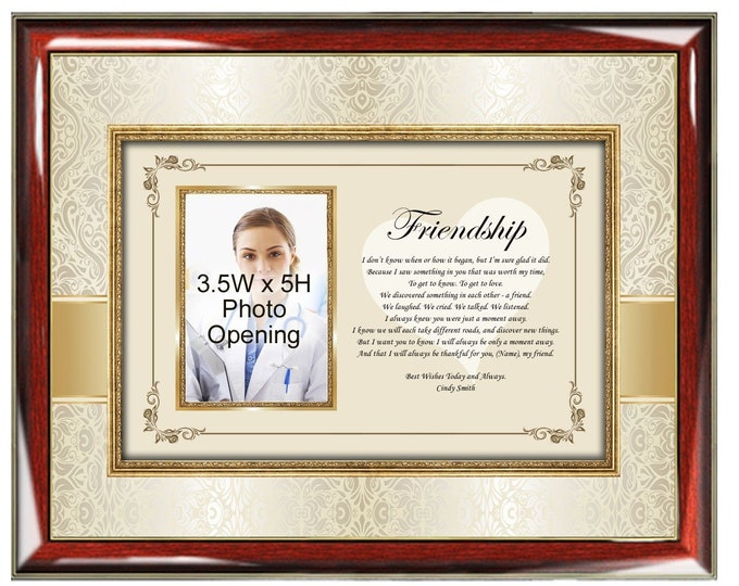 Poetry Picture Friendship Photo Frame Personalized Picture Frames Best Friends Poetry Poem Gifts