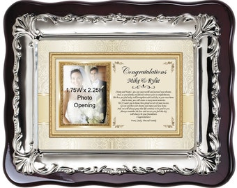 Personalized Picture Frame for Housewarming Gift Plaque. Best Wishes Poem Photo Frame for New Homeowner Couple House Present