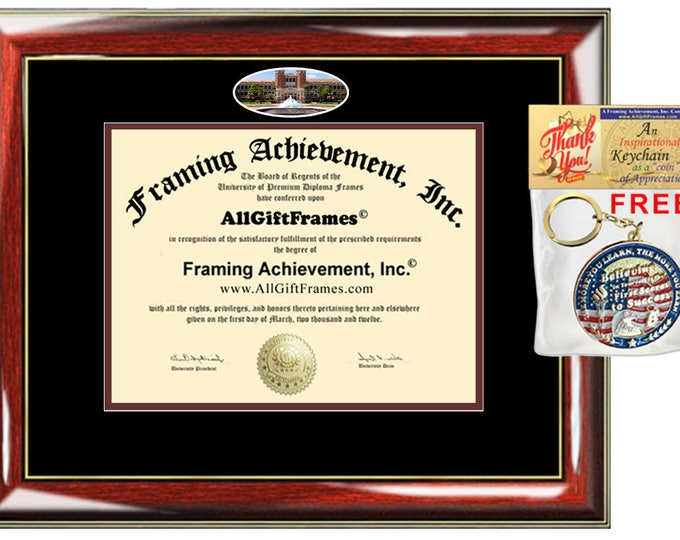 Diplomaframe Fisheye Pic Personalized University Diploma