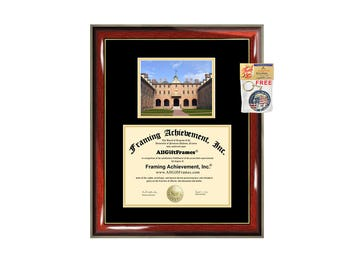 College of William and Mary diploma frame WM degree frames framing campus certificate gift graduation plaque document college graduate