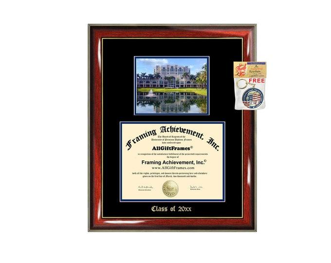 Diploma Frame Florida International University Photo Graduation Gift Case Emboss Display Certificate FIU Degree Framing Case Holder