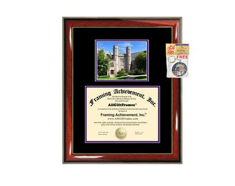 West Chester University diploma frame campus photo certificate framing graduation WCU document college degree plaque graduate
