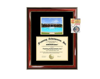 UCF diploma frame campus certificate University of Central Florida degree frames framing gift graduation plaque document college