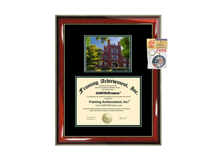 Marshall University diploma frame campus picture certificate framing campus photo graduation gift document holder college graduate holder