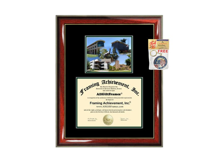 Cal Poly San Luis Obispo diploma frame campus photo California Polytechnic State University San Luis Obispo certificate framing graduation
