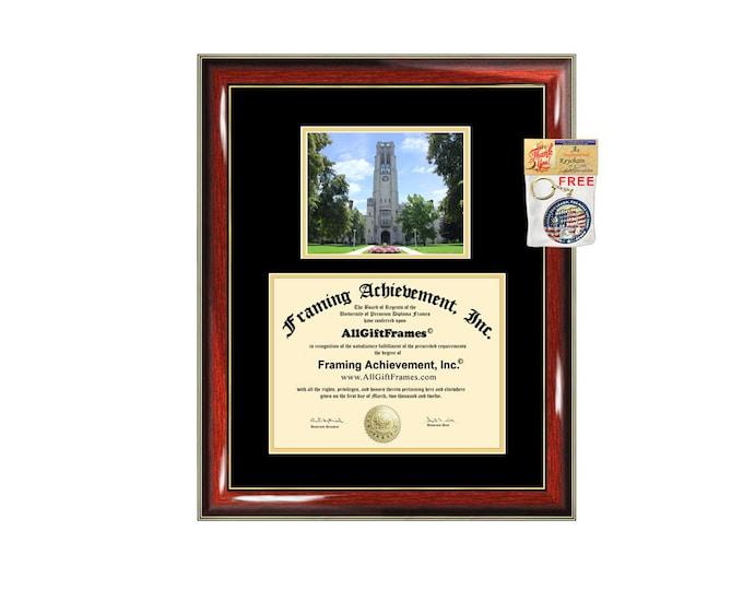 University of Toledo diploma frame campus photo certificate framing graduation document college degree plaque graduate document picture