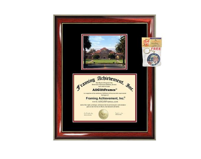 Stanford University diploma frame campus degree certificate framing gift graduation frames photo document plaque certification graduate