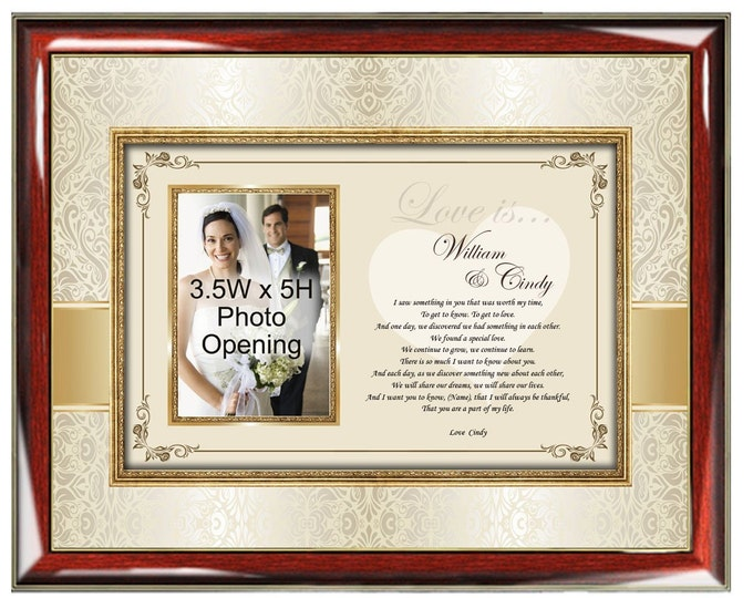 Romantic Love Poem Gift Picture Frame Photo Plaque Personalized Poem I Love You Romantic Present Engagement