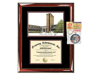 Bellarmine College diploma frames Bellarmine lithograph frame certificate framing campus sketch graduation degree gift college grad case