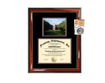 Norwich University diploma frame campus degree certificate framing gift graduation frames plaque certification award document achievement