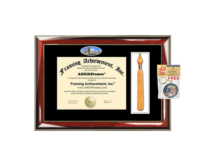 Bellarmine College diploma frames Bellarmine frame certificate framing campus picture Tassel Holder degree gift college graduate case