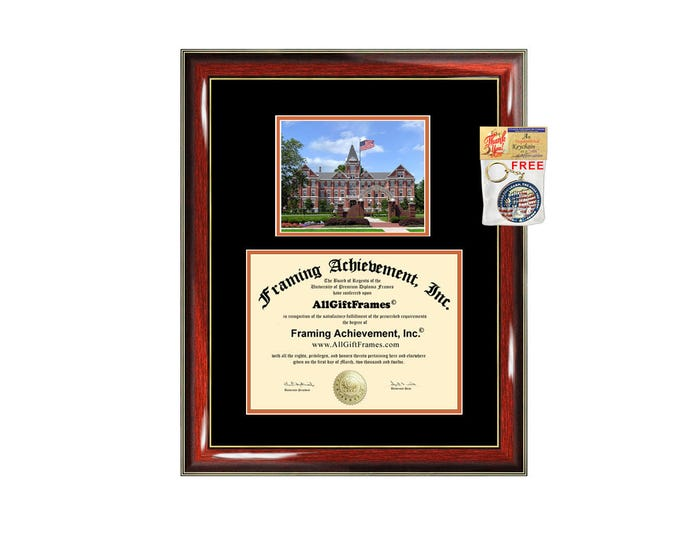 University of Findlay diploma frame campus photo certificate framing graduation document college degree plaque graduate document