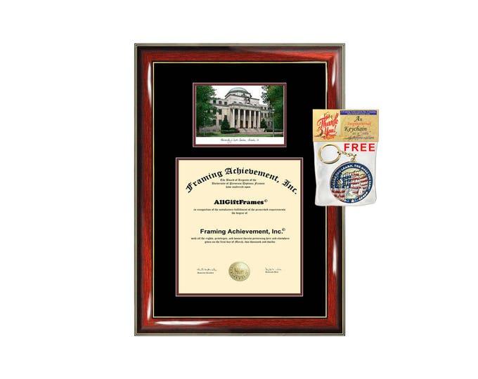 University South Carolina diploma frame lithograph campus image USC certificate degree frames framing gift graduation plaque college grad