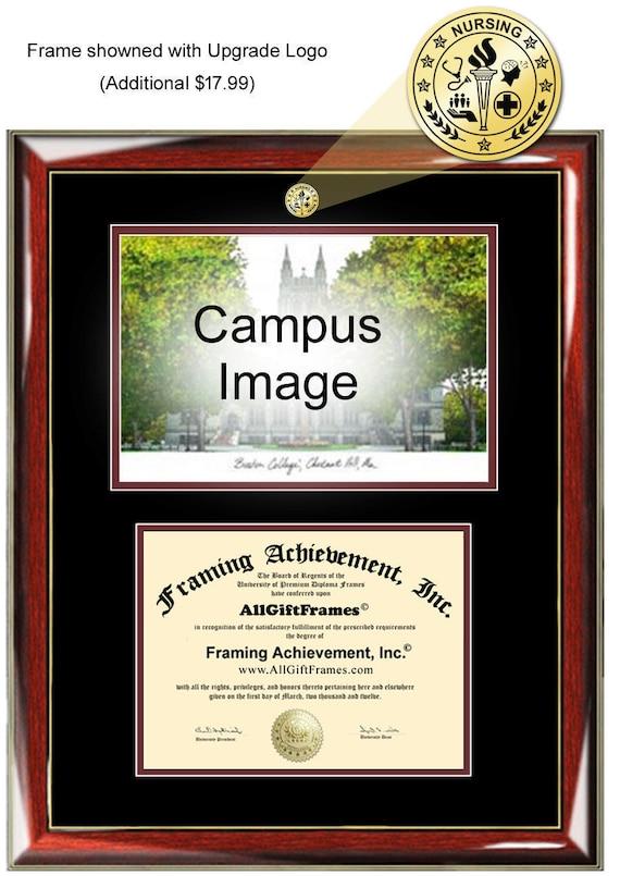 AllGiftFrames University of North Carolina Charlotte Diploma Frame UNCC School Campus Photo Custom UNC Charlotte Double Mat Degree Framing Document Graduation Gift Certificate Holder Case
