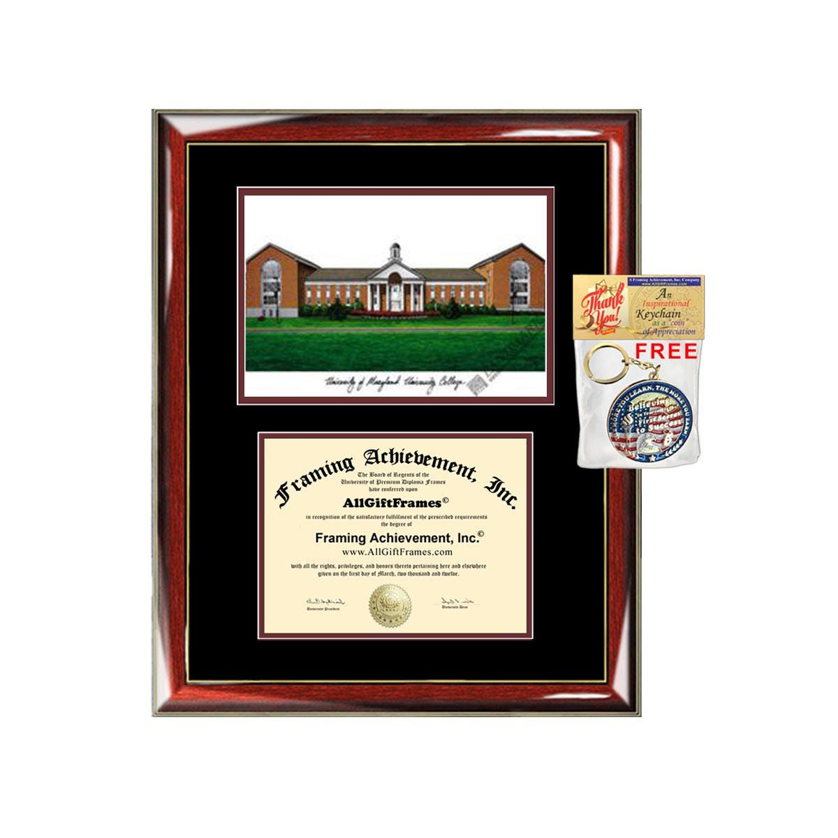 University of Maryland University College diploma frames lithograph ...