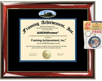 South Dakota State University diploma frame SDSU campus school picture campus certificate degree case framing gift graduation plaque