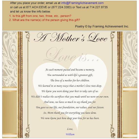 Danke Gedichte Mutter Frame Plaque Personalisierte Geschenke Für Mama Liebe Geburtstag Sohn Tochter