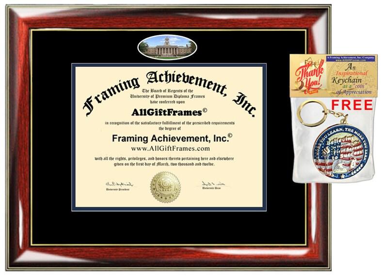 PSU diploma frame Penn State University school campus picture degree certificate framing graduation frames Pennsylvania holder plaque case