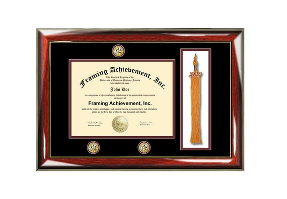 Graduation tassel diploma frame university college degree triple ...