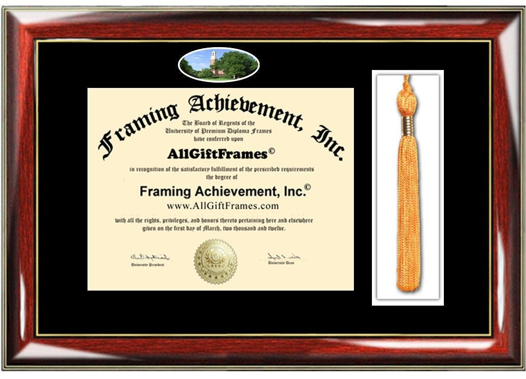 Miami University Diploma Frames Campus Photo Miami Ohio Frame Tassel