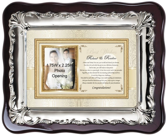 Personalized Wedding Picture Frame Photo Plaque For Bride   Etsy