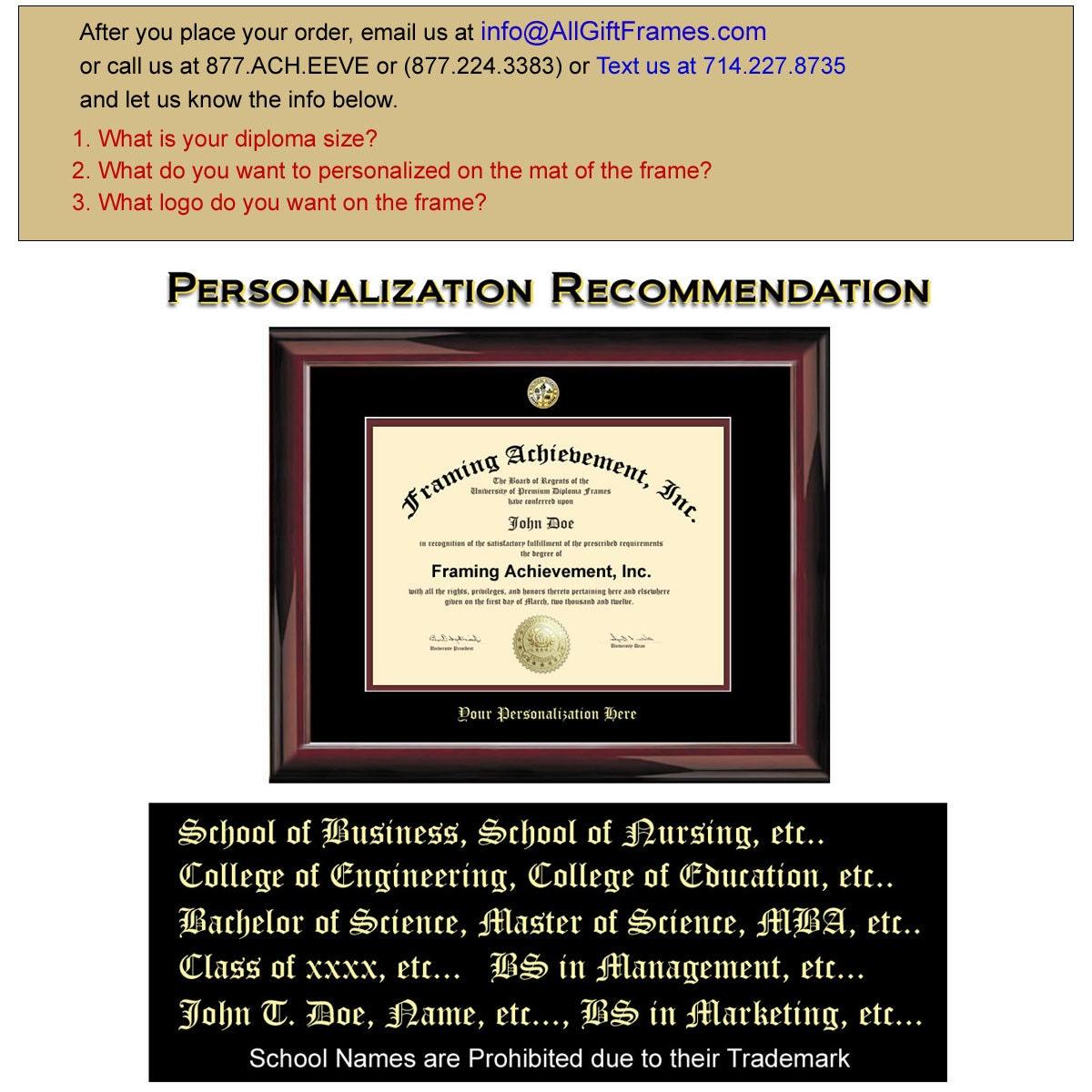 Diploma Frame University Graduation Degree Frames Glossy