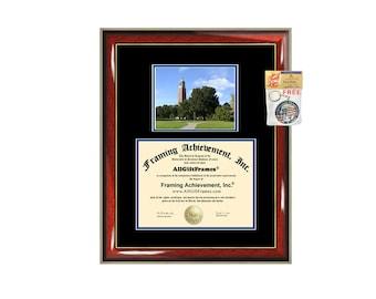 South Dakota State University diploma frame SDSU certificate framing graduation gift graduate document college plaque campus degree photo