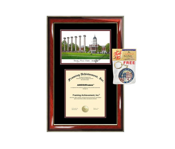 University of Missouri Columbia diploma frames lithograph | Etsy