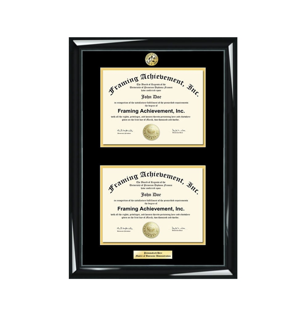 Abschluss Doppel Diplom Rahmen eingraviert Universität Grad