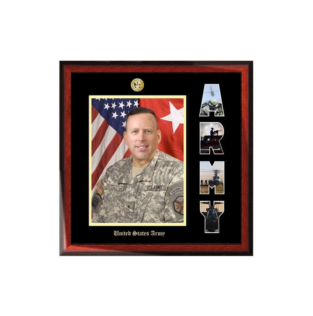 Armee-Bilderrahmen mit US Armee Collage Brief militärische | Etsy