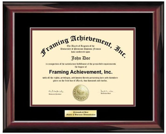 University Frame College Diploma Framing Plaques Top mat | Etsy