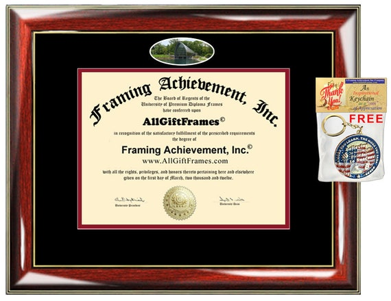 RHIT diploma frame Rose Hulman Institute Technology campus   Etsy