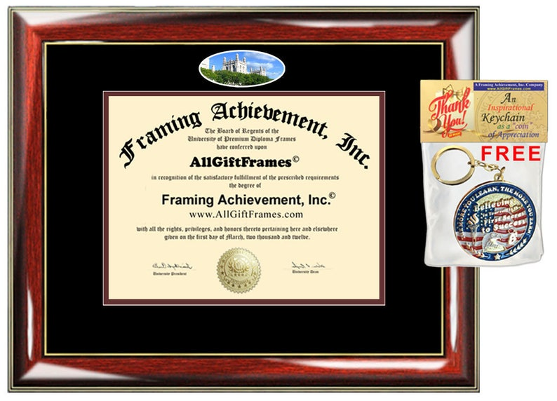 University of Chicago diploma frame campus photo certificate graduation  gift custom framing school document bachelor masters mba phd case