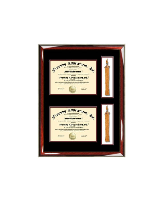 Double Graduation Tassel Box Two Diploma Frame with Dual | Etsy