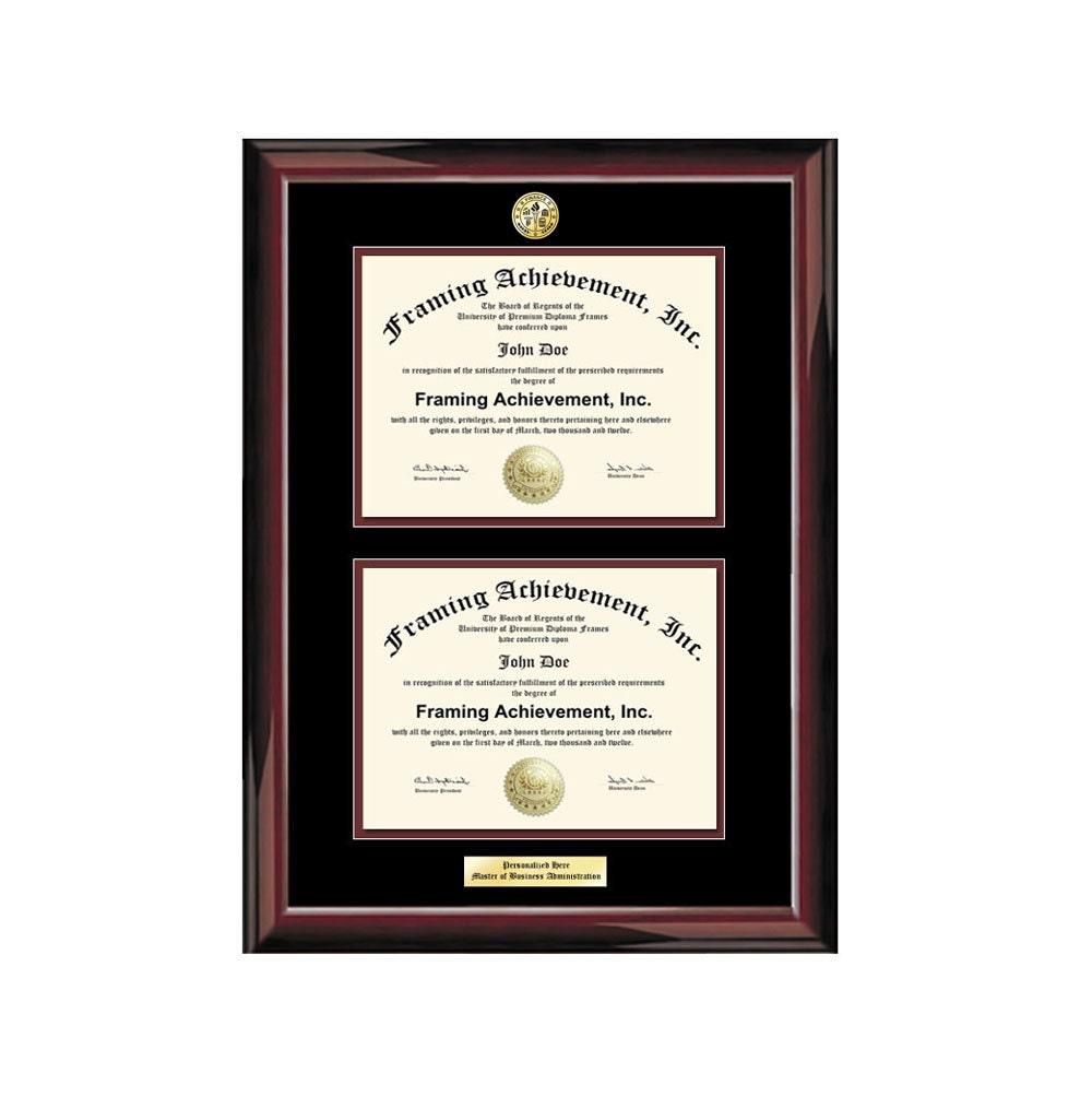 Doble mat Universidad Marcos dos Diploma graduación grabado