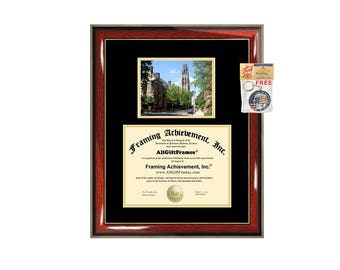 Yale University diploma frame certificate framing graduation document plaque degree gift college Yale graduate picture frame campus photo