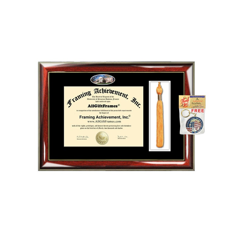 Radford University diploma frame tassel holder plaque case degree tassel framing case college campus picture image Radford graduation gift