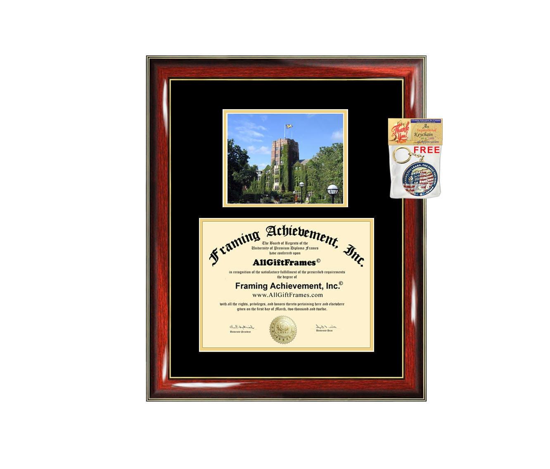University Of Michigan Diploma Frame Campus Photo Certificate