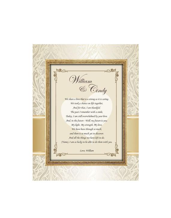 Love Romantic Gift Frame Birthday I Love You Present Girlfriend Boyfriend Wife Husband Engagement 11x14 Unframed Matted Poem Romantic