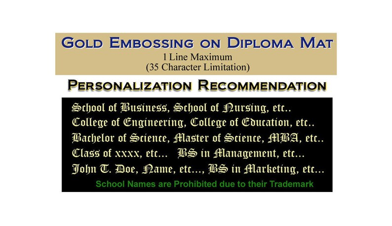 Upgrade One Line Gold Embossing our University Diploma Frames image 0