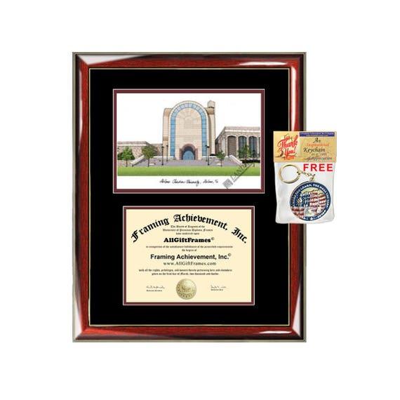 Abilene Christian University diploma frames lithograph ACU | Etsy
