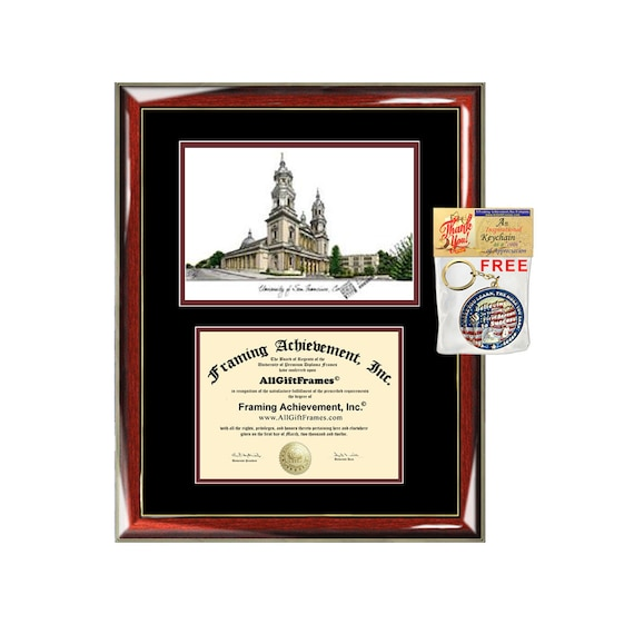 University San Francisco diploma frames lithograph USF frame