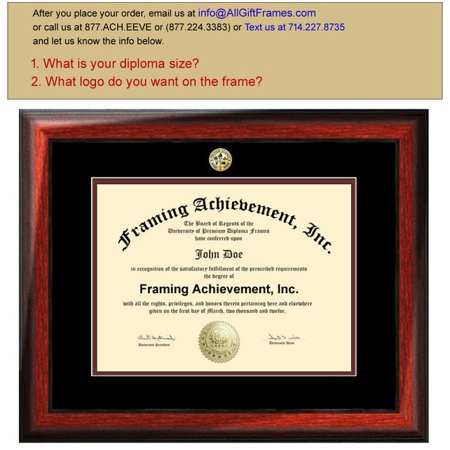 College Diploma Frames University Major Seal Logos Top   Etsy