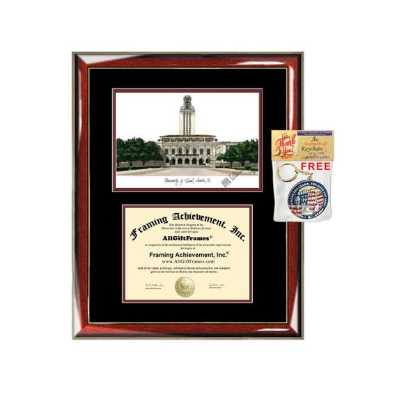 University of Texas Austin diploma frames UT Austin lithograph | Etsy
