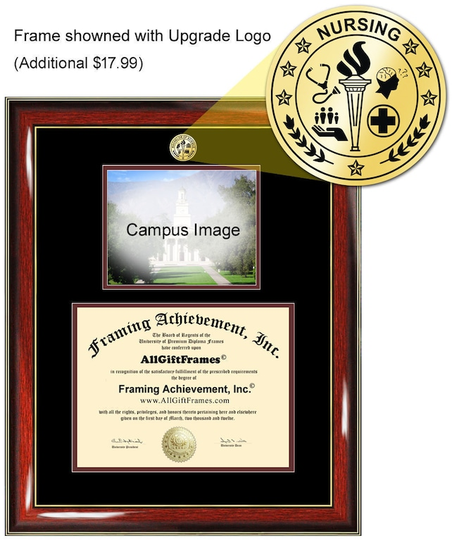 University Of Rochester Diploma Frame Campus Photo Certificate Etsy