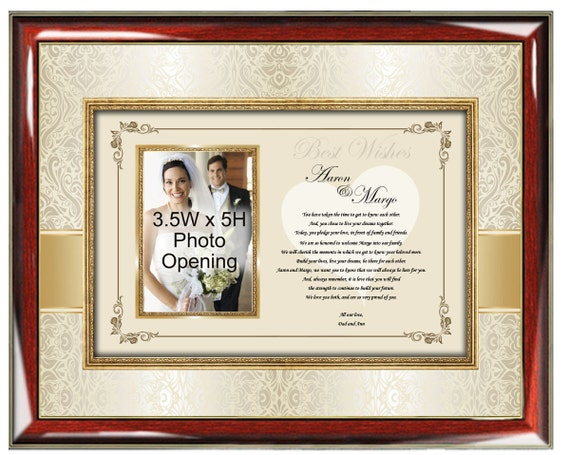 Unique Parent Wedding Gift Ideas: Parents Wedding Gift To Daughter Or Son Frame Personalized