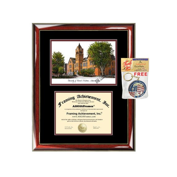 Captivating University Of Central Oklahoma Diploma Frames Lithograph UCO | Etsy