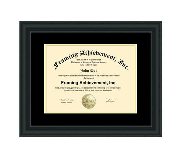 diploma frames graduation certificate frames satin rich black top