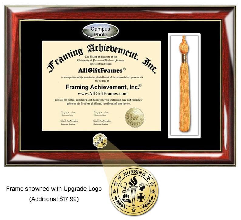DeVry University diploma frame tassel box holder degree document school campus certificate Bachelor Master Doctorate Phd graduation gift