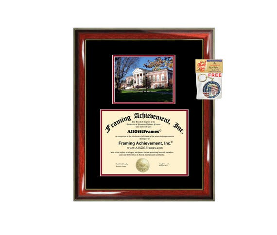 Radford University diploma frame campus photo certificate framing graduation document college degree plaque graduate document